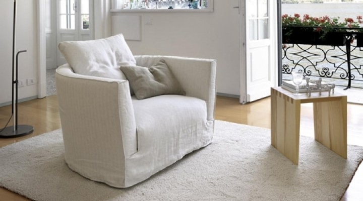 Home Designing Pertaining To White Sofa Chairs (Gallery 10 of 10)