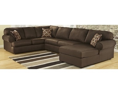 Homemakers Sectional Sofas Inside Most Current 3 Piece Chaise Sectional – Dark Brown – Sam Levitz Furniture (Gallery 9 of 10)