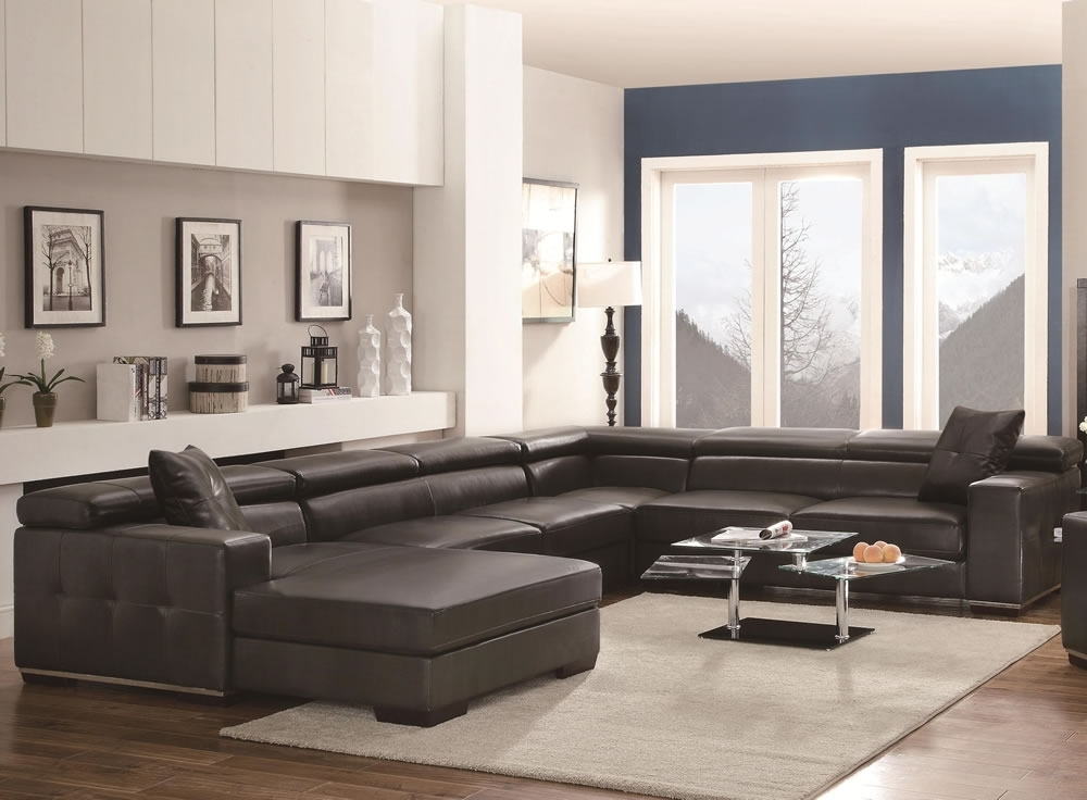 Huge U Shaped Sectionals Throughout Well Known U Shaped Large Sectional Sofas Black Sofa Furniture Set — The Home (Gallery 6 of 10)