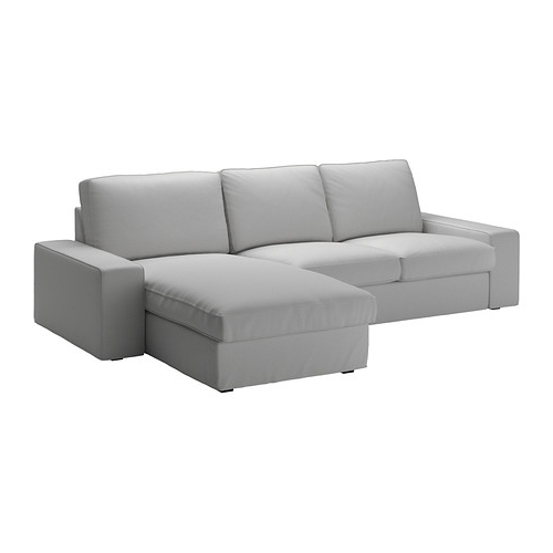 Ikea Chaise Couches Intended For Famous Kivik Sofa – With Chaise/orrsta Light Gray – Ikea (View 5 of 15)