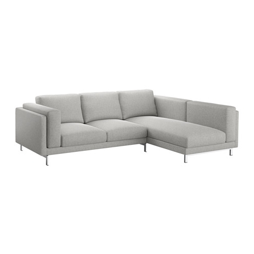 Ikea Chaise Couches Within Most Recently Released Nockeby Sofa – With Chaise, Left/tallmyra White/black, Chrome (View 8 of 15)