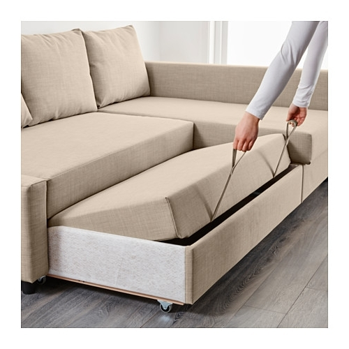 Ikea Corner Sofas With Storage Throughout Latest Friheten Corner Sofa Bed With Storage Skiftebo Beige – Ikea (View 7 of 10)
