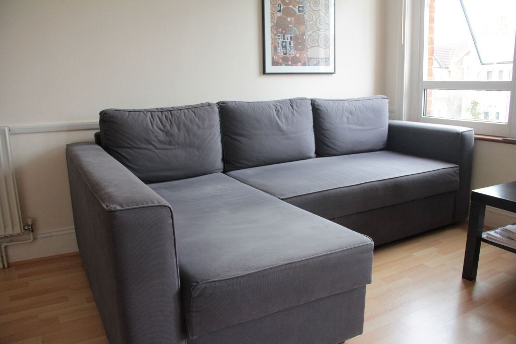 Ikea Manstad Corner Sofa Bed With Chaise Longue And Storage – Gobo Throughout Recent Ikea Corner Sofas With Storage (Gallery 8 of 10)