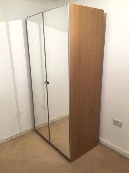 Ikea Pax Wardrobe Mirror Doors Wardrobe With Mirror Door Double Within Recent Double Wardrobes With Mirror (View 4 of 15)