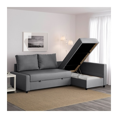 Ikea Sofa Beds With Chaise With Regard To Fashionable Friheten Corner Sofa Bed With Storage Skiftebo Dark Grey – Ikea (View 6 of 15)
