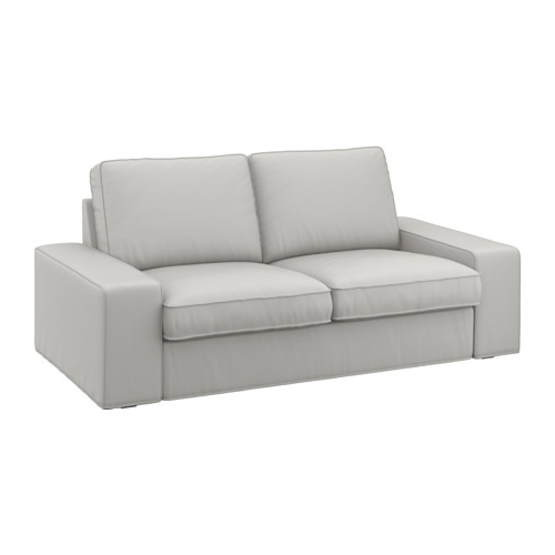 Ikea Two Seater Sofas Pertaining To Most Recent Kivik Two Seat Sofa Ramna Light Grey – Ikea (View 5 of 10)