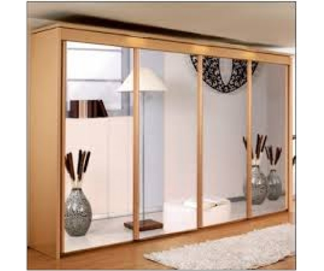 Imperial 4 Mirror Door Sliding Wardrobe (W350Cm (View 5 of 15)