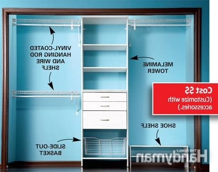 Impressive Ready Made Closets Build A Low Cost Custom Closet Best Within Well Known Low Cost Wardrobes (View 4 of 15)