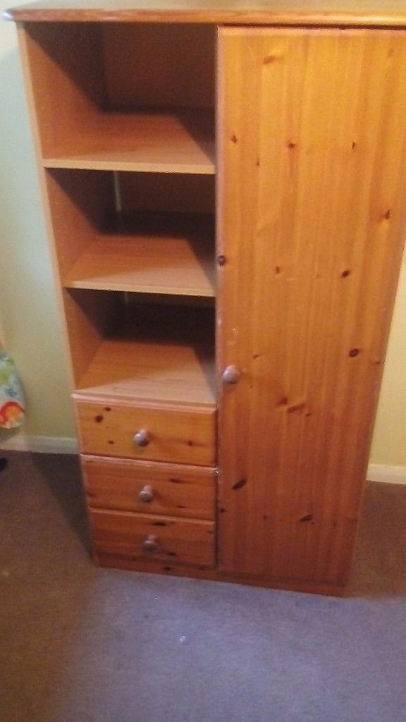 Featured Photo of Pine Wardrobes With Drawers And Shelves