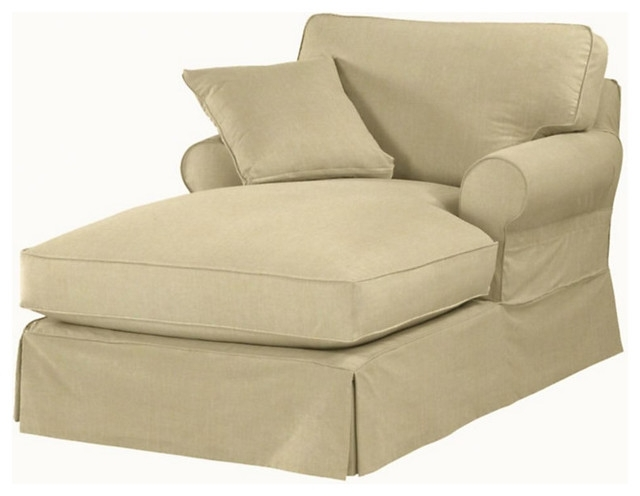 Indoor Chaise Lounge Covers Baldwin Chaise Slipcover Indoor Chaise For Well Liked Chaise Lounge Chairs With Arms Slipcover (Gallery 10 of 15)