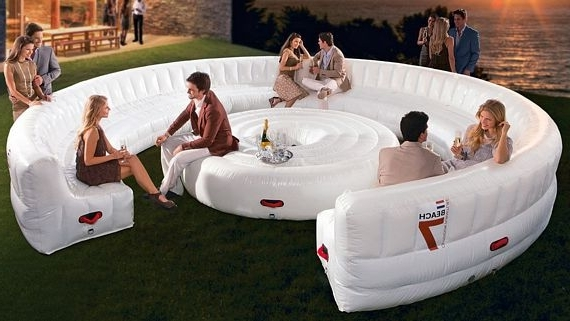 Inflatable Sofas And Chairs Regarding Well Known Beach7 Airlounge Xl Is A Party Sized Inflatable Couch (Gallery 4 of 10)