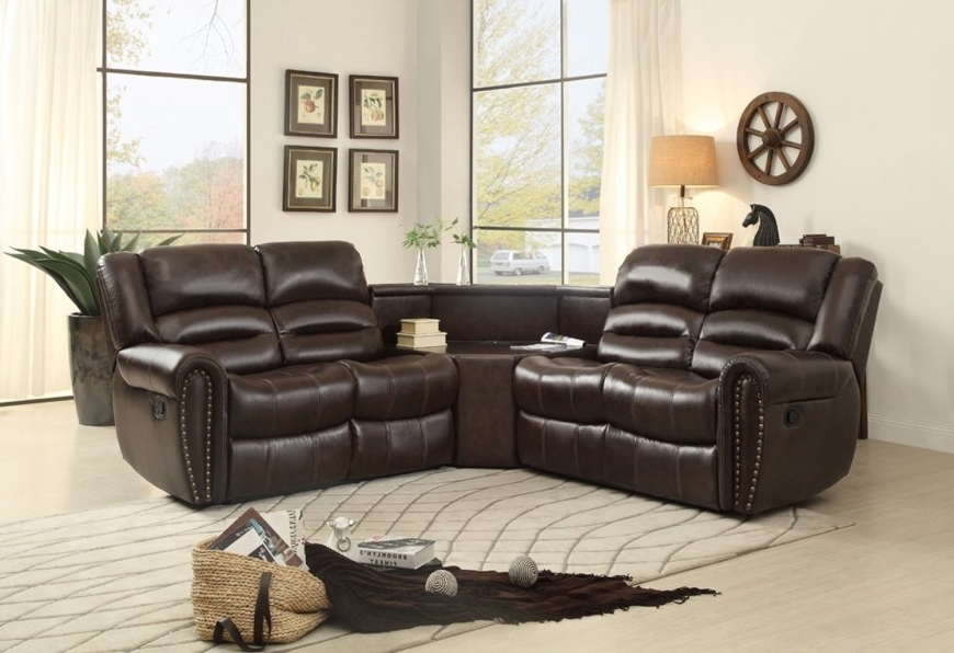 Inspiring Top 10 Best Reclining Sofas 2018 Small Sectional With Regarding Fashionable Sectional Sofas With Recliners Leather (View 3 of 10)