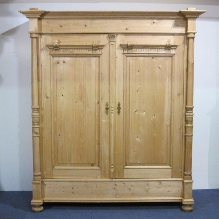 Item Of The Week – Large Antique Pine Double Wardrobe With Columns With Well Known Double Pine Wardrobes (View 10 of 15)