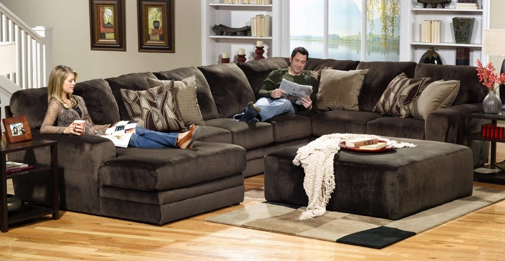Jackson Everest Customizable Sectional Sofa Set B Chocolate Jf Within Most Up To Date Plush Sectional Sofas (View 4 of 10)