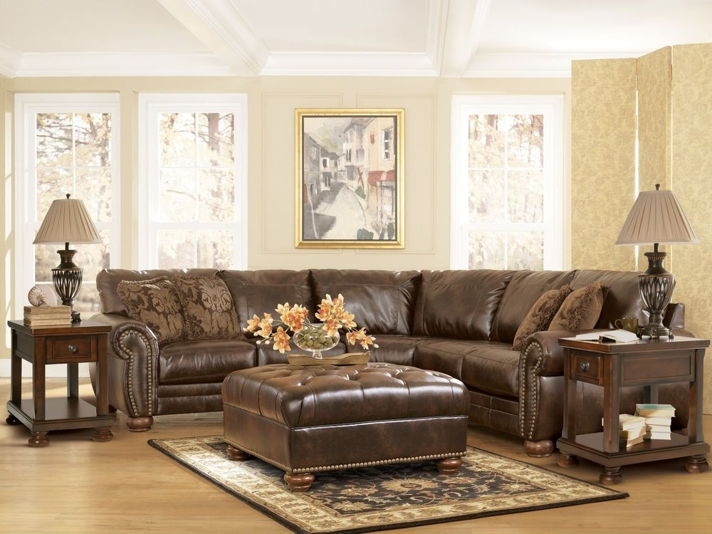 Jackson Ms Sectional Sofas Pertaining To Well Known Traditional Dark Brown Bonded Leather Sectional Couch Living Room (View 2 of 10)