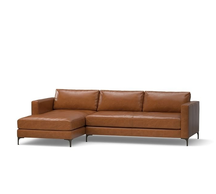 Jake Leather Sofa With Chaise Sectional (View 3 of 15)