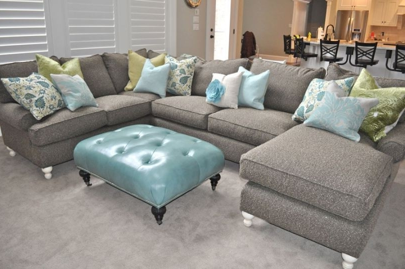 Jcpenney Sectional Sofas Pertaining To Best And Newest Jcpenney Sectional Sofa With Blue Ottoman (good Jcpenney Couch # (View 10 of 10)