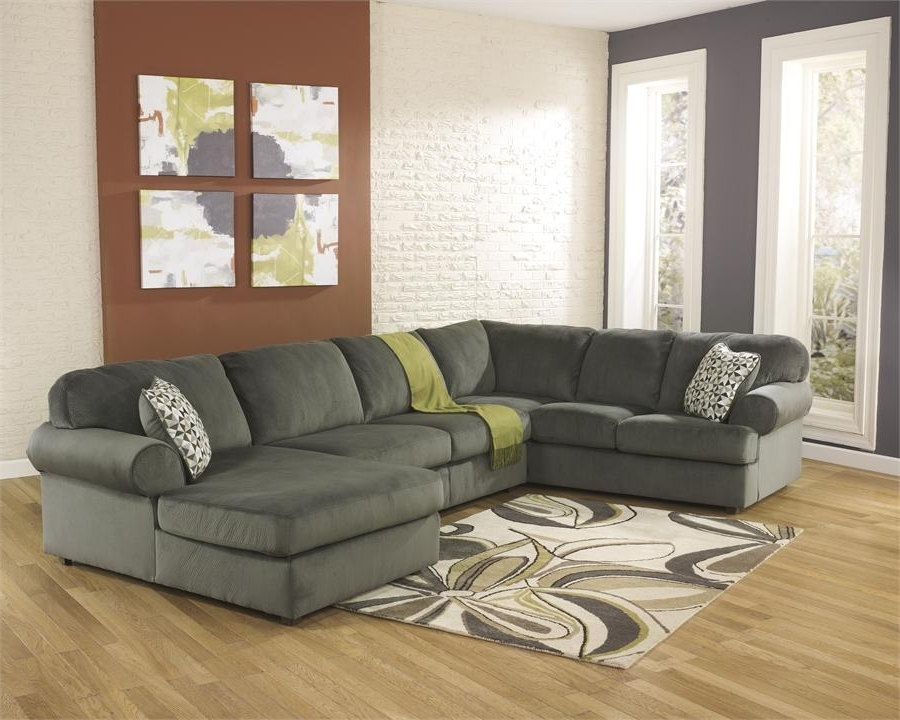 Jessa Place Pewter Right Arm Facing Chaise Sectionalashley With Latest Right Facing Chaise Sectionals (View 8 of 15)