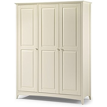 Julian Bowen Cameo 3 Door Wardrobe, Stone White: Amazon.co (View 8 of 15)