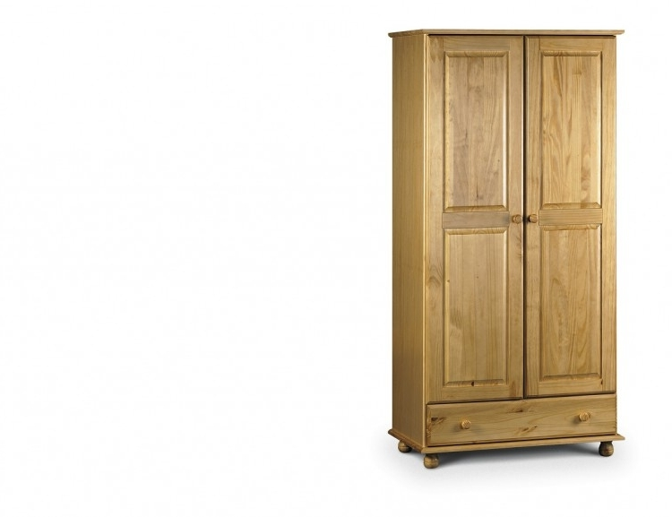 Julian Bowen Pickwick Pine Wooden 2 Door Combination Wardrobe For 2017 Julian Bowen Wardrobes (Gallery 11 of 15)
