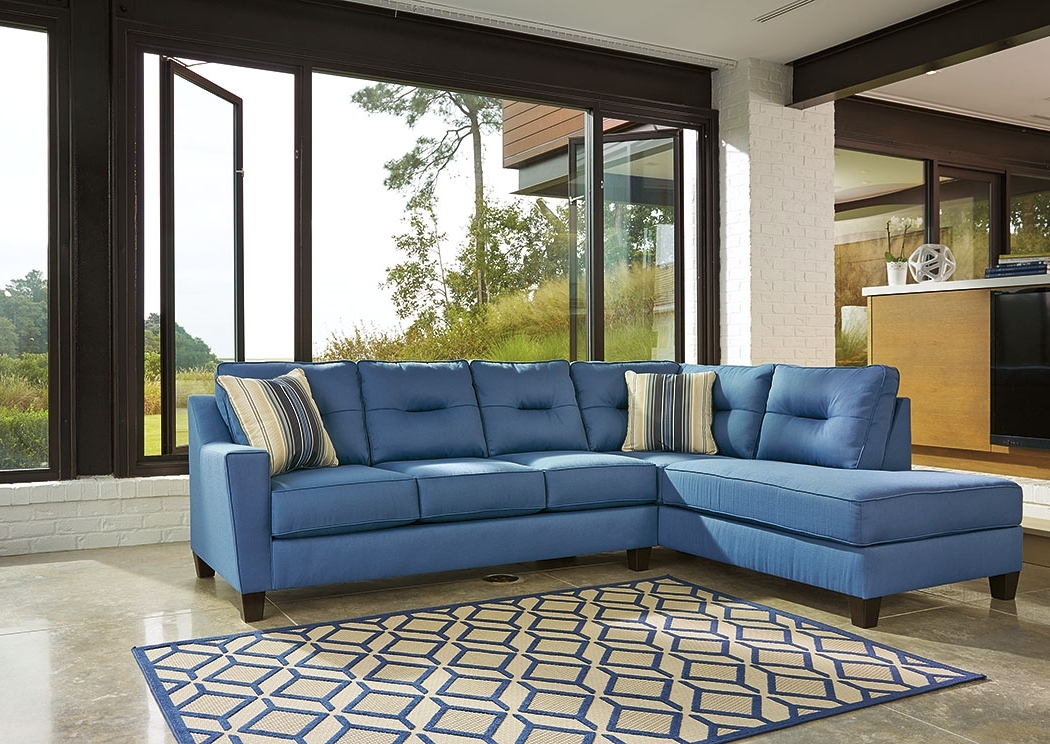 Kensington Furniture Kirwin Nuvella Blue Left Facing Corner Chaise Inside Well Liked Corner Chaises (View 7 of 15)
