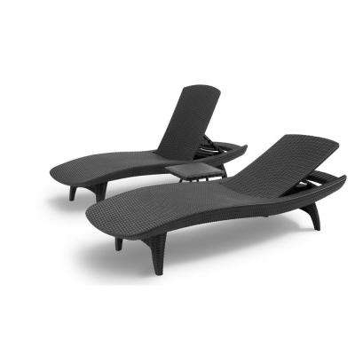 Keter – Patio Chairs – Patio Furniture – The Home Depot Regarding Newest Keter Chaise Lounge Chairs (Gallery 7 of 15)