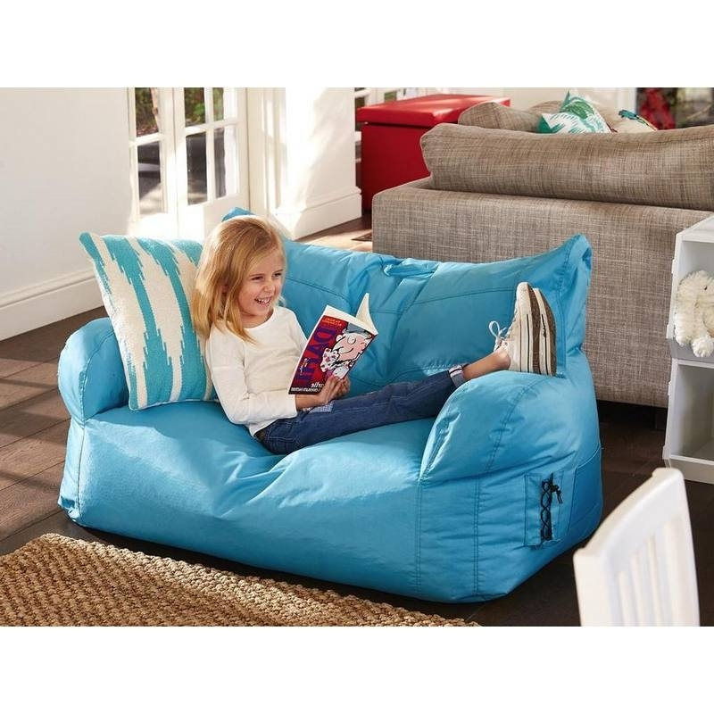 Kids 2 Seater Brady Bean Bag Sofa Chair (Gallery 4 of 10)