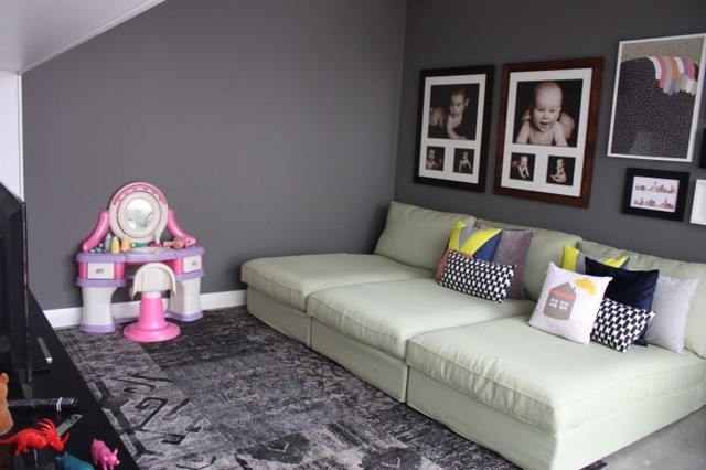 Kids Playroom With 3 Ikea Kivik Chaise Lounges – Contemporary Intended For Latest Ikea Kivik Chaises (Gallery 7 of 15)