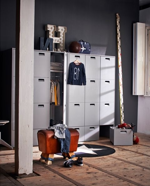 Kids Room : Children's Modern Double Wardrobe In White Color Inside Famous Childrens Double Rail Wardrobes (View 9 of 15)