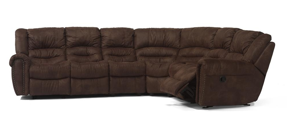 Killeen Tx Sectional Sofas Pertaining To Current Latitudes – Crosstown Reclining Sectionalflexsteel – Woodley's (View 2 of 10)