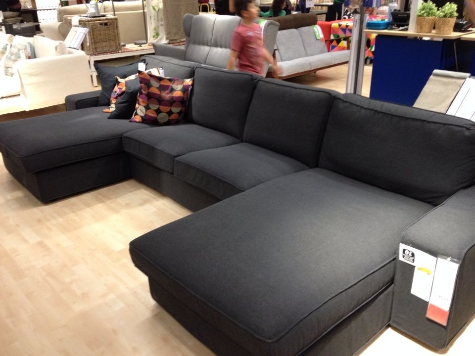 Kivik Sofa With Two Chaises In Dansbo Dark Gray. The Arm Can Come Intended For Favorite Gray Chaises (Gallery 3 of 15)