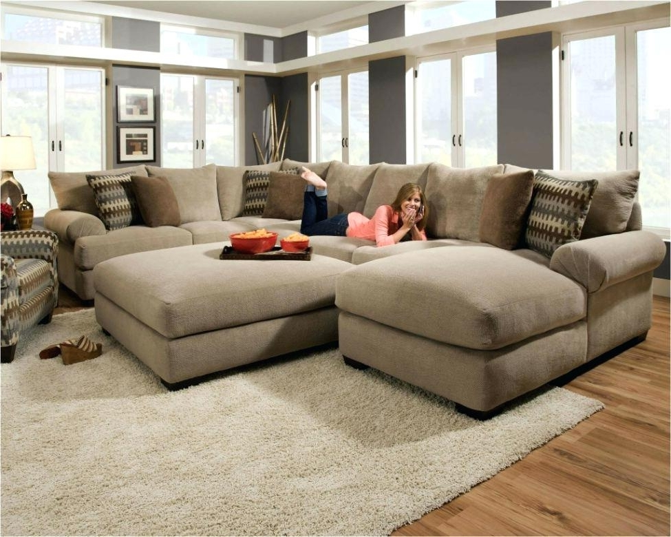 L Shaped Couch With Ottoman U Shaped Sectional With Large Ottoman Within Favorite Sectional Couches With Large Ottoman (View 10 of 10)
