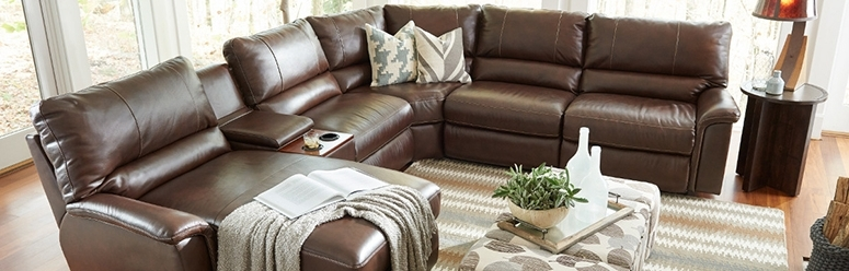 La Z Boy Sectional Sofas Regarding Newest Fantastic Leather Reclining Sectional Sofa Sectional Sofas (View 3 of 10)