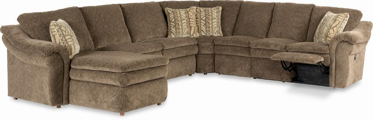 La Z Boy Sectional Sofas With Regard To Most Recent 5 Piece Sectional With Las Chaise And Power Recline Loveseatla (View 4 of 10)