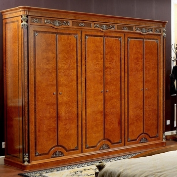 Large Antique Wardrobes Intended For Current Yb29 Italian Antique Carved Wooden Bedroom Furniture,large 6 Doors (View 9 of 15)
