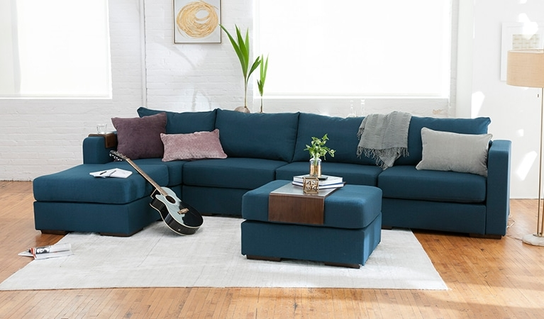 Large Chaise Sectional Sofa Lovesac Modern Long Sofas Ideas 10 For Well Liked Long Sectional Sofas With Chaise (View 7 of 10)