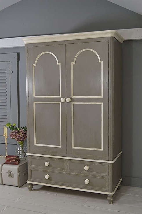 Large Shabby Chic Farmhouse Grey Wardrobe With Drawersthe For Most Recent Large Shabby Chic Wardrobes (View 8 of 15)
