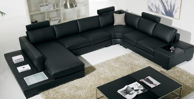 Large U Shaped Sectional Sofas – Home And Textiles Regarding Most Recent U Shaped Leather Sectional Sofas (View 1 of 10)