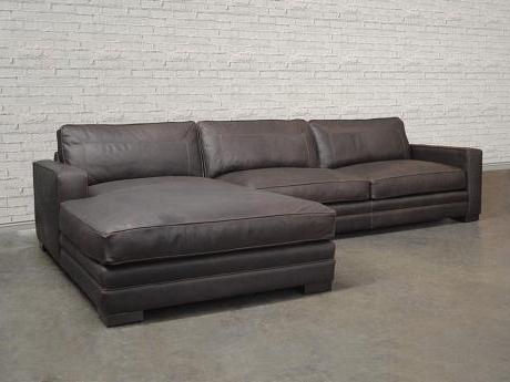 Las Vegas Leather Sectional Sofa – Top Grain, Aniline Inside Favorite Las Vegas Sectional Sofas (View 4 of 10)