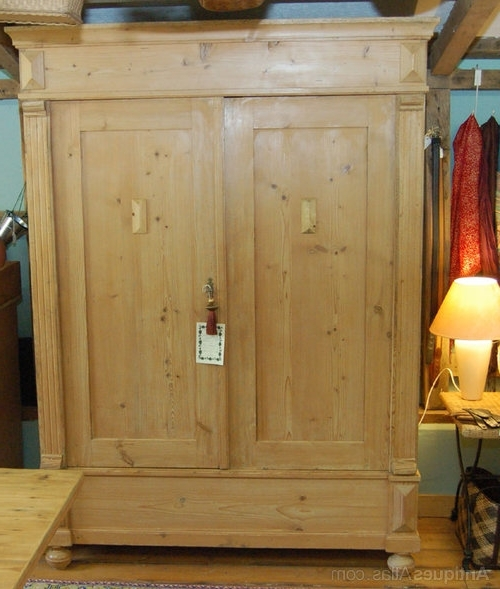Late Victorian Pine Wardrobe – Antiques Atlas Throughout Fashionable Victorian Pine Wardrobes (View 2 of 15)