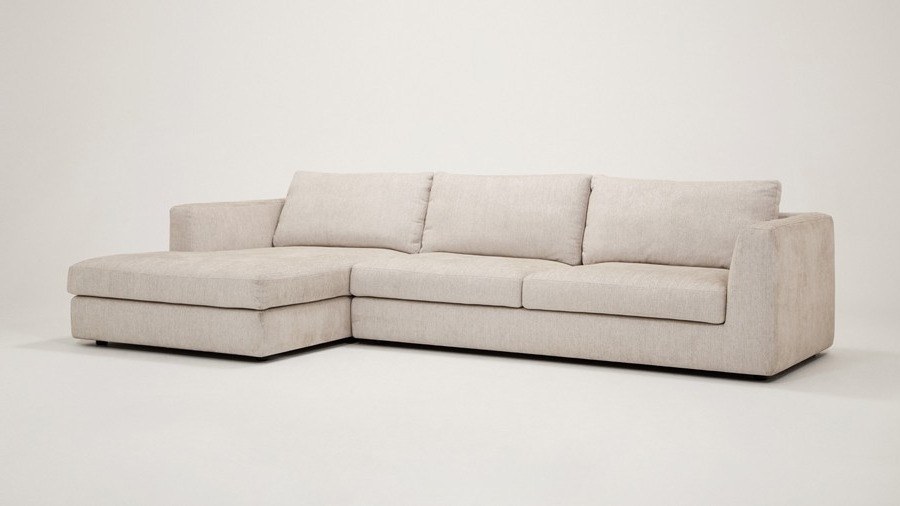 Latest 2 Piece Sectional Sofas With Chaise For Cello Fabric 2 Piece Sectional Sofa With Chaise (View 7 of 15)
