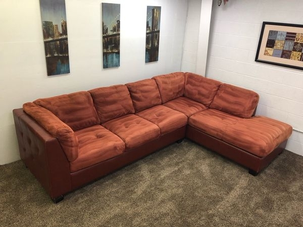 Latest 925 – $100 Down – Red/orange Microfiber And Red Leather Sectional Inside Eugene Oregon Sectional Sofas (View 5 of 10)