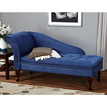 Latest Amazon: Blue Chaise Storage Lounge Chair Sofa Loveseat For For Sofa Lounge Chairs (View 6 of 10)