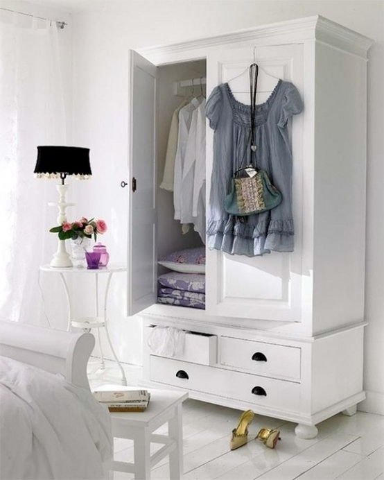 Latest Bedroom Wardrobes Storages Regarding 57 Smart Bedroom Storage Ideas – Digsdigs (View 10 of 15)