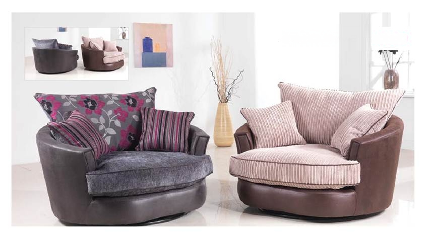 Latest Brown Swivel Chair Corner Sofa And Club Bulay With Regard To Throughout Sofas With Swivel Chair (View 3 of 10)