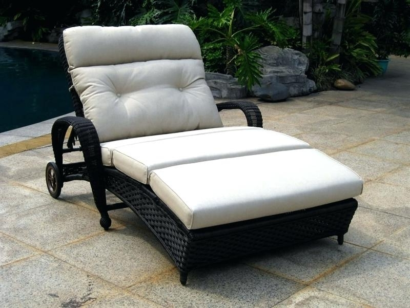 Latest Chaise Patio Lounge Curved Rattan Double Outdoor Chaise Lounge In Double Chaise Lounges For Outdoor (View 10 of 15)