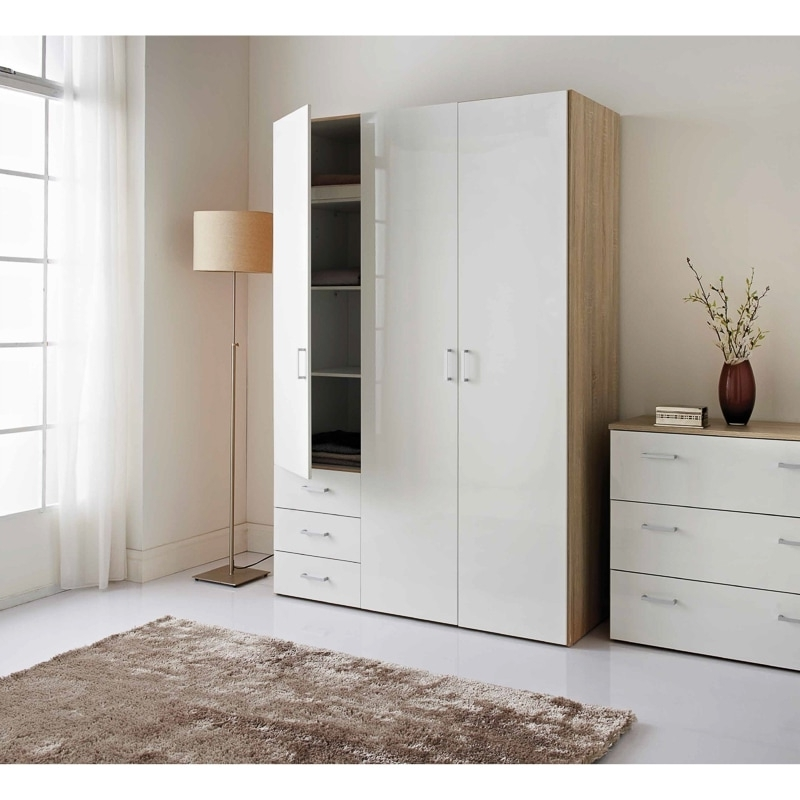 Latest Cheap Wardrobes Pertaining To Cheap Wardrobes, Bedside Tables & Drawers – Bedroom Furniture (View 11 of 15)