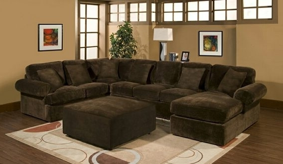 Latest Chocolate Sectional Sofas Pertaining To Modern Microfiber Sectional Sofa At (View 5 of 10)
