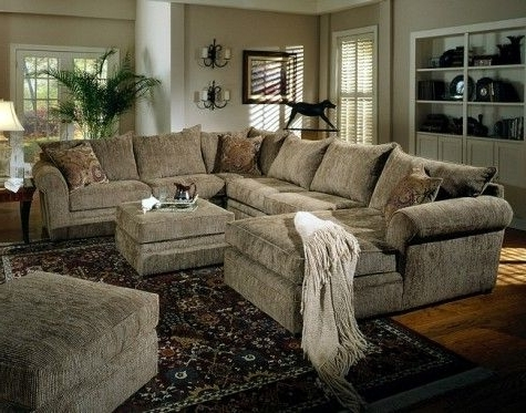 Latest Comfy Sectional Sofas Throughout Big Super Comfy Sectional Couch Where Both Ottomans Would Fit In (View 4 of 10)