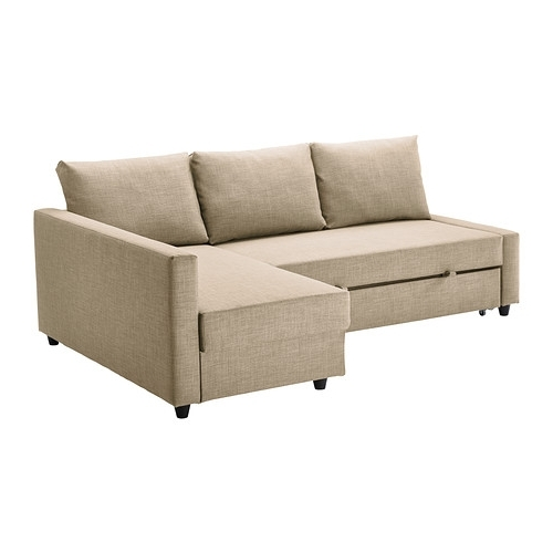 Latest Friheten Corner Sofa Bed With Storage Skiftebo Beige – Ikea Within Ikea Chaise Sofas (View 10 of 15)
